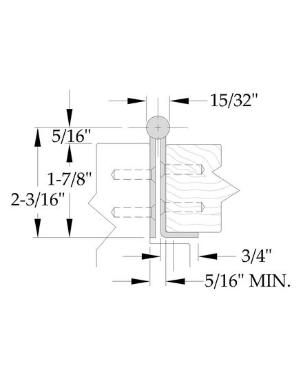 Picture of A5515 Stainless Steel Continuous Hinge - Full Concealed - 12 Gauge