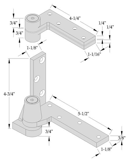 Picture of 0195 Pivot Set - 3/4 Offset