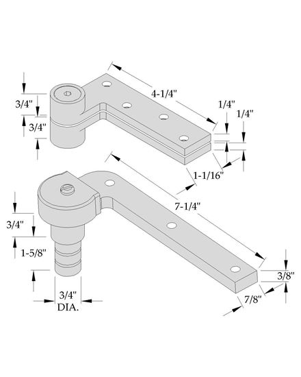 Picture of 0173 Pivot Set - 3/4 Offset