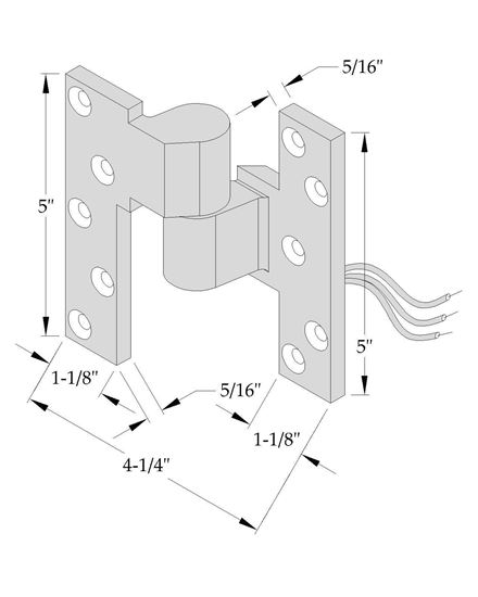 """Picture of CM019 Intermediate Pivot - Electrified - 3/4"""" Offset"""