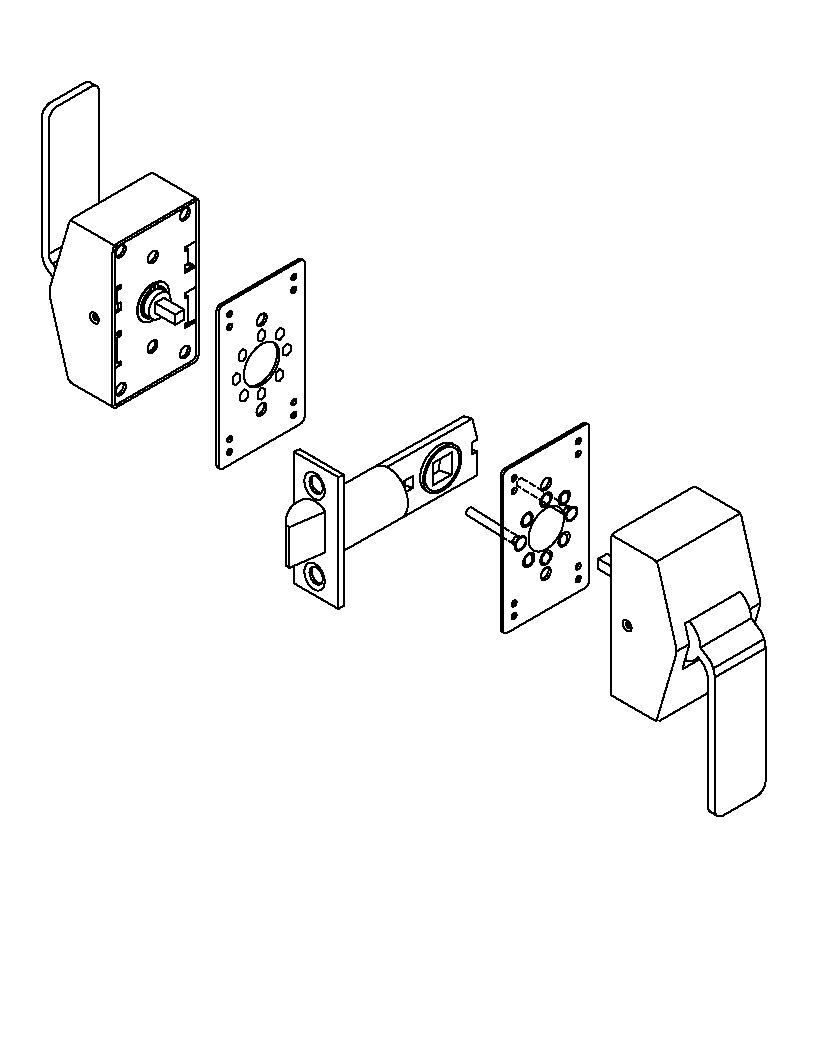 6100 Series Hospital Latch for Existing 161 Prep Template ...