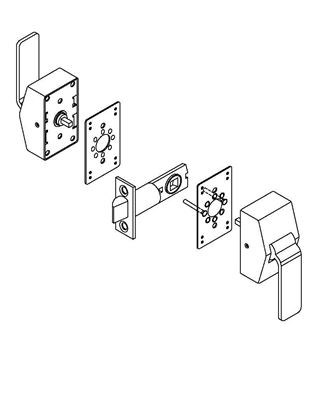 Picture of 6100 Series Hospital Latch for Existing 161 Prep Template