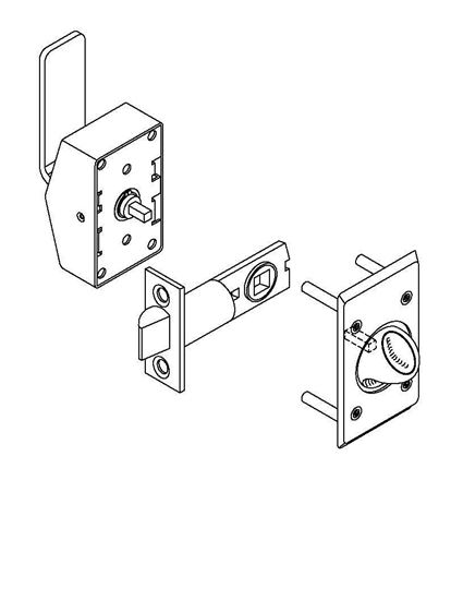 Picture of 6200 Series Asylum Push Or Pull Latch with Knob
