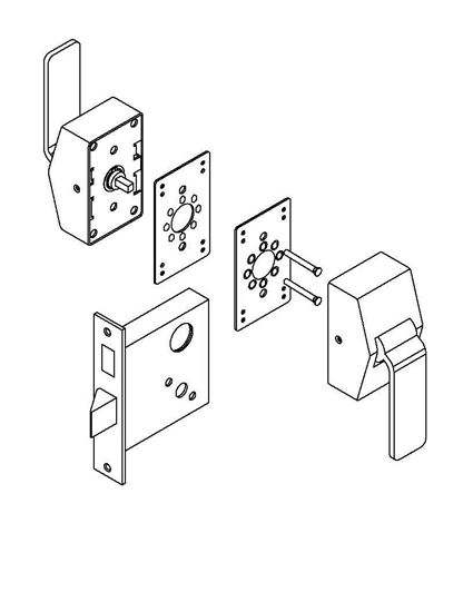 Picture of 6600 Series Mortise Lock Hospital Latch