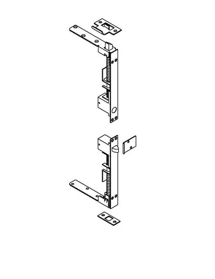 Picture of 1864P Self Latching Flush Bolt with Automatic Bottom Flush Bolt