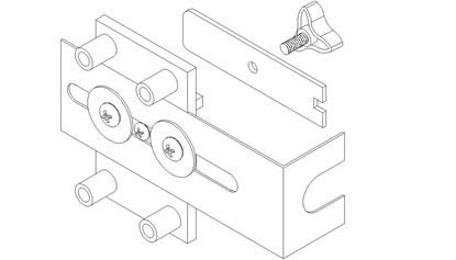 Picture of 6000-6800 Series Hospital Latch Drill Jig