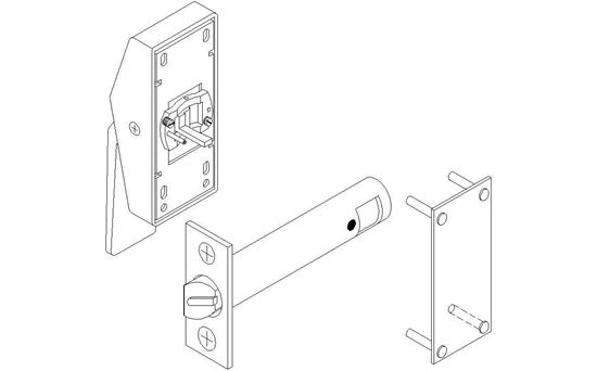 Picture of 6840 Series Exit Only Low Profile Hospital Latch