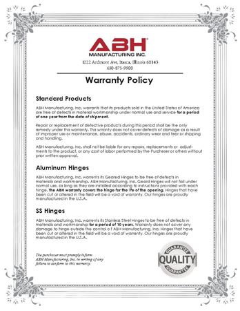 Picture for literature ABH Warranty
