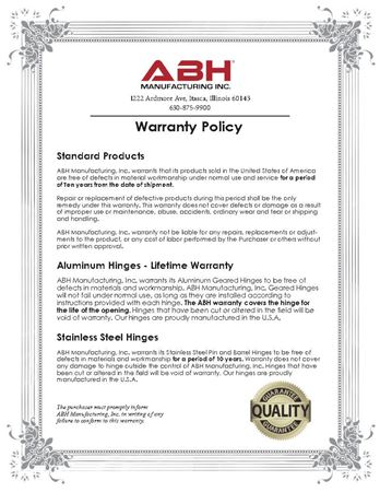 Picture for literature Warranty Policy