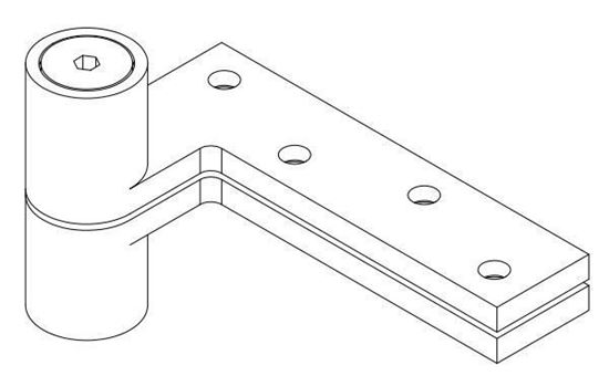 Picture of EX0180 Extended Pin Top Pivot - 3/4 Offset