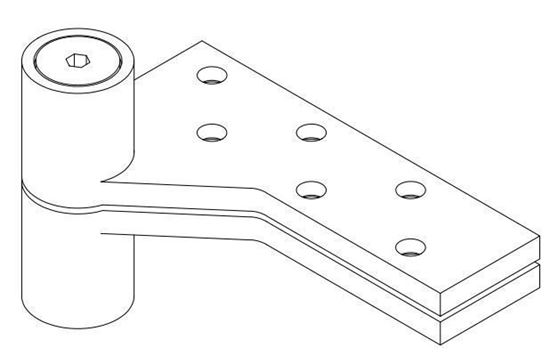 Picture of EXL0180 Extended Pin Top Pivot - 3/4 Offset Lead-Lined Doors