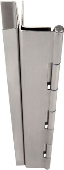 Picture of A526 Stainless Steel Pin & Barrel Continuous Hinge Full Mortise Swing Clear