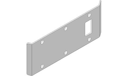 """Picture of Double-Lipped Strike - 1/8"""" Inset - Cylindrical Latch"""