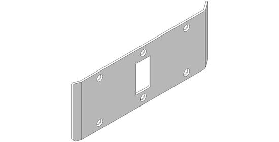 """Picture of Double-Lipped Strike - 1/8"""" Inset - Mortise Lock without Dead Bolt"""