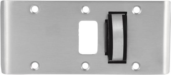 """Picture of Double-Lipped Strike & Rescue Stop Combo - Half-Moon Stop - 1/8"""" Inset - Cylindrical Latch"""